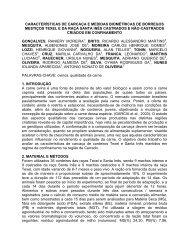 DESEMPENHO DE OVINOS CASTRADOS E NO ... - UFG