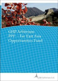 Investment in the Middle Kingdom - GHP Arbitrium AG