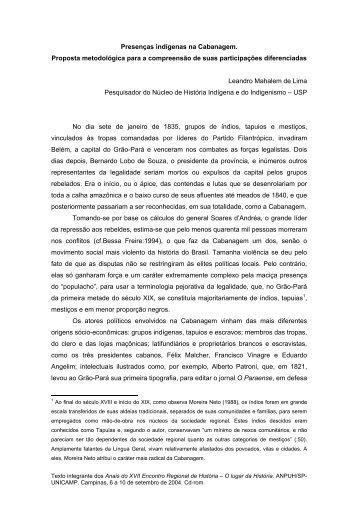 Leandro Mahalem de Lima - ANPUH-SP