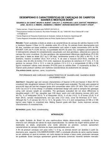 DESEMPENHO E CARACTERÍSTICAS DE CARCAÇAS ... - Capritec