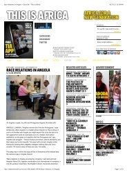 Race relations in Angola - City Life - This Is Africa - The Article Factory