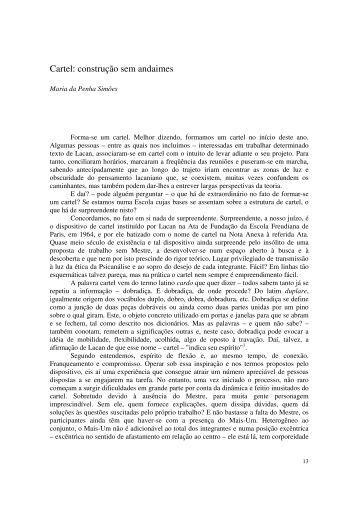 Cartel: construção sem andaimes - Escola Letra Freudiana