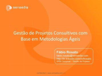 1) Gestão de projetos consultivos com base em - CPqD