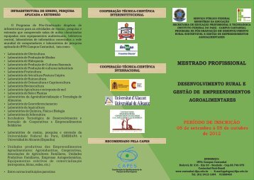 folder sobre o curso de mestrado - IFPA