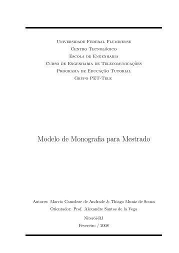 Modelo de Monografia para Mestrado - UFF