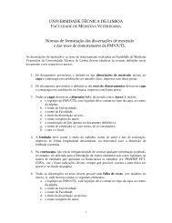 Normas de formatação das dissertações - Faculdade de Medicina ...