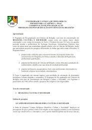 Edital 2013 - Mestrado em Ciências da Religião - Unicap