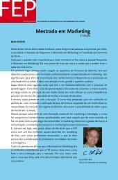 Mestrado em Marketing - FEP - Universidade do Porto
