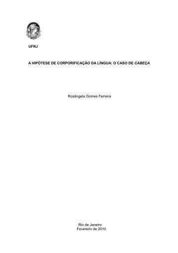 Dissertação de Mestrado - FERREIRA, Rosângela Gomes