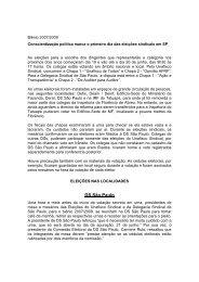 Materia DS SP sobre eleições - Unafisco