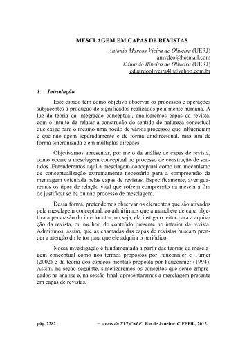 MESCLAGEM EM CAPAS DE REVISTAS Antonio Marcos Vieira de ...