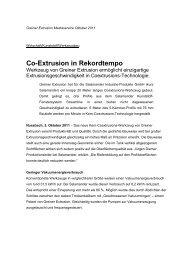 Co-Extrusion in Rekordtempo - Greiner Tool.Tec