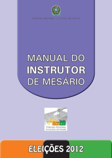 INSTRUTOR - Tribunal Regional Eleitoral do Ceará