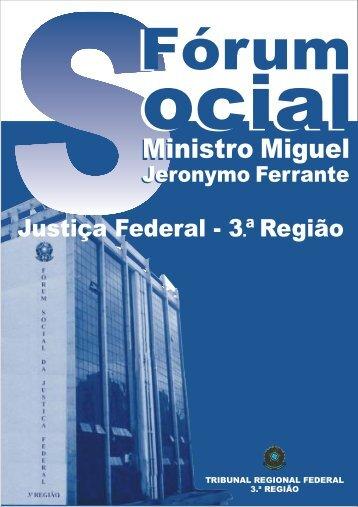 Organização da Justiça Federal Previdenciária - Ramos Prev
