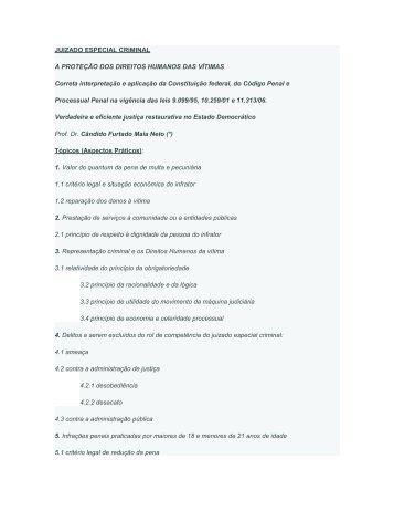 JUIZADO ESPECIAL CRIMINAL - Monografias.com
