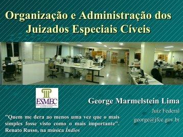 Organização e Administração dos Juizados Especiais Cíveis
