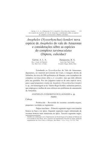 Anopheles (Nyssorhynchus) - Governo do Estado do Pará