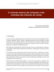 o controle externo das licitações e dos contratos ... - Revista do TCE