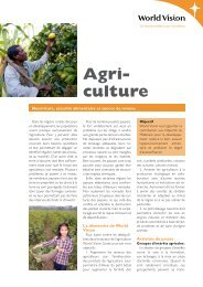 Agri- culture - World Vision Schweiz