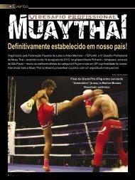 Evento VI Desafio Profissional de Muay Thai - Combat Sport