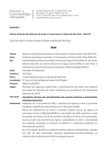 Relatório Atualizado (05/03/2013) - SEAC-SP