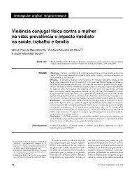 Violência conjugal física contra a mulher na vida ... - SciELO