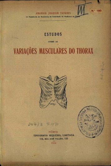 VARIAÇÕES MUSCULARES DO THORAX