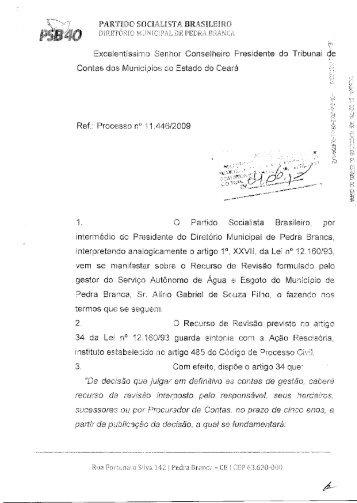"""""""Da decisão que julgar em definitivo as contas de gestão ... - TCM-CE"""