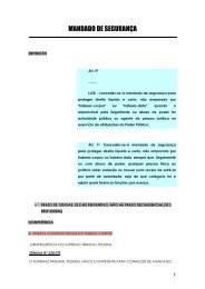 mandado de segurança - Tribunal de Justiça do Estado do Ceará