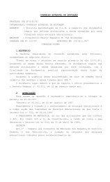 CONSELHO ESTADUAL DE EDUCAÇÃO PROCESSO CEE Nº0120 ...