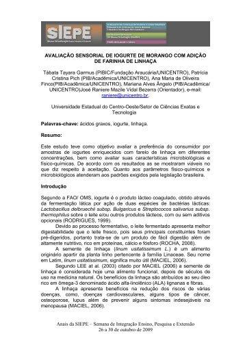 TÍTULO DO RESUMO - Anais de Eventos da Unicentro ...