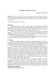 Linguagem, cognição e perspectivas - Universidade Federal de Juiz ...