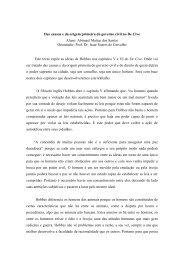 Das causas e da origem primeira do governo civil no De Cive Aluno ...