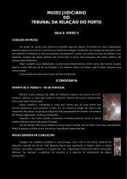 Folheto do Museu Judiciário - Tribunal da Relação do Porto