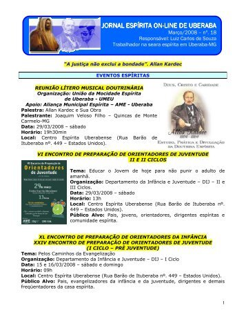 Março de 2008 - Jornal Espírita de Uberaba