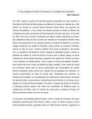A FACULDADE DE DIREITO DA BAHIA E A ... - José Calasans