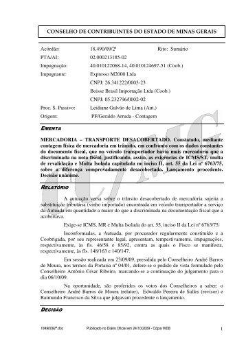 Microsoft Word - 18490092\252.doc - Secretaria de Estado de ...