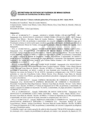 07 - Secretaria de Estado de Fazenda de Minas Gerais