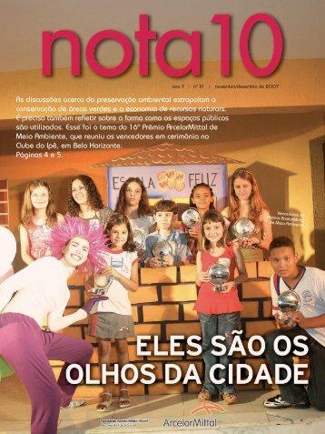 Revista Nota 10 - Fundação ArcelorMittal Brasil