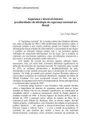 SEGURANÇA E DESENVOLVIMENTO: - Latin American Centre