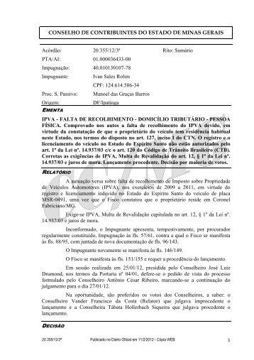 20355 - Secretaria de Estado de Fazenda de Minas Gerais