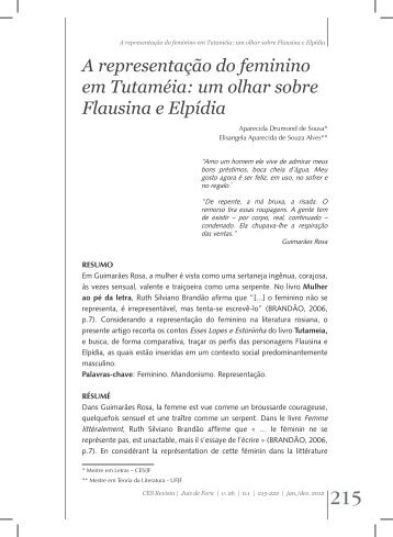 A representação do feminino em Tutaméia