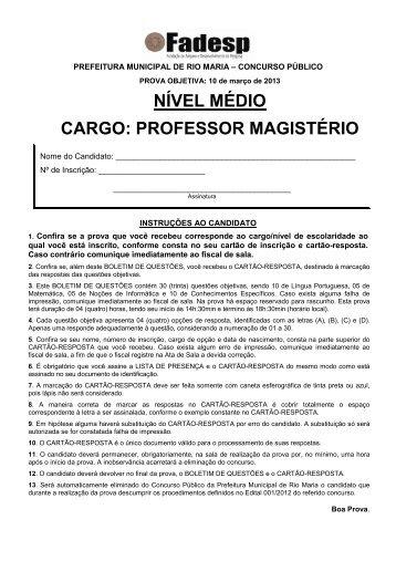 Comentada para concursos professor fabiano for Concurso profesor