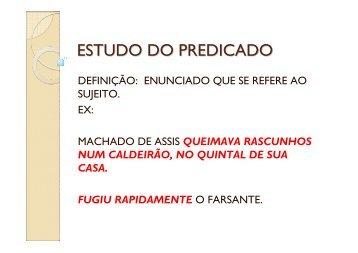 ESTUDO DO PREDICADO