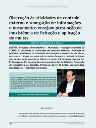 Obstrução às atividades de controle externo e ... - Revista do TCE