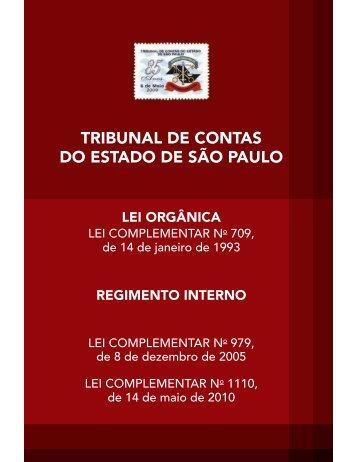 Lei e Regimento - Tribunal de Contas do Estado de São Paulo