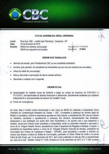 Local - Confederação Brasileira de Clubes
