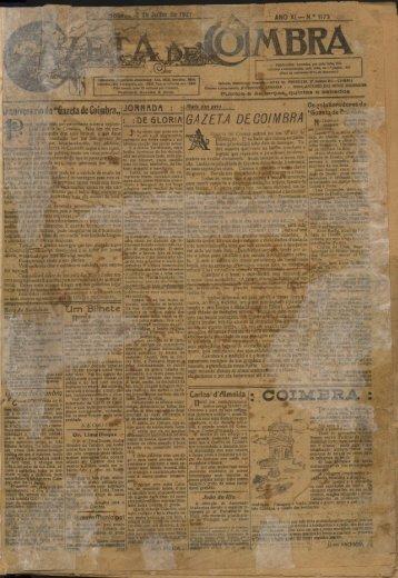 """Gazeta mm de Coimbra,, GAZETA DE COIMBRA"