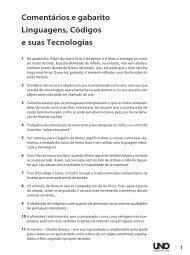 Comentários e gabarito Linguagens, Códigos e suas Tecnologias