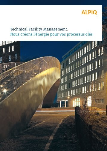 Technical Facility Management: brochure PDF - Alpiq Intec Schweiz